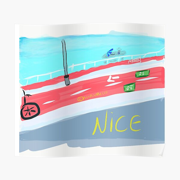 French Riviera- Nice Poster