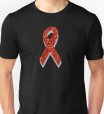 sequin red ribbon T-Shirt