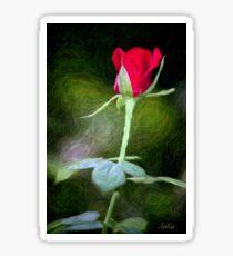 Rosebud In Colored Pencil Sticker
