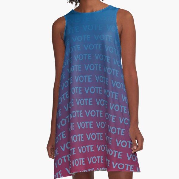 VOTE VOTE VOTE - blue and red A-Line Dress