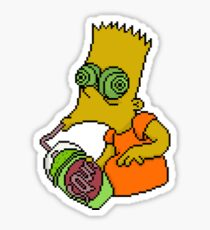 Bart tripping Sticker