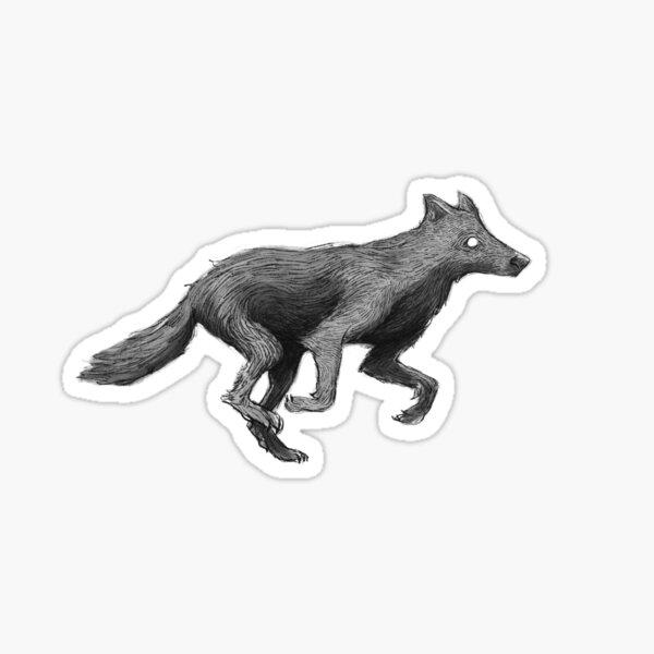 Running Wolf Sticker
