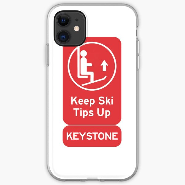 Ski Tips Up! It's time to ski! Keystone! iPhone Soft Case