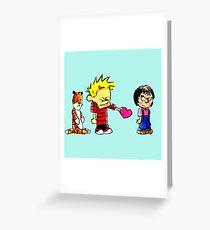 Calvin Hobbes Love Greeting Card