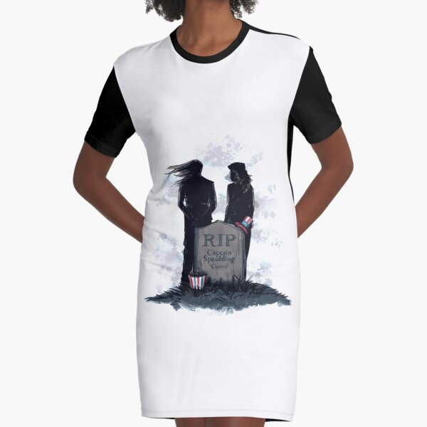 RIP Captain Graphic T-Shirt Dress