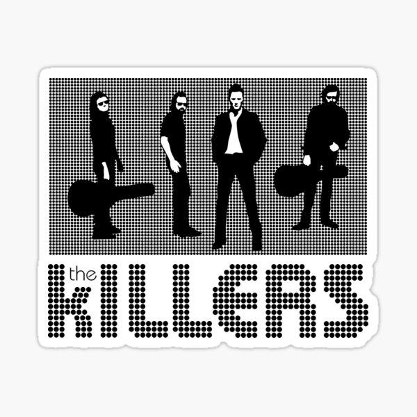 The Killers white Sticker