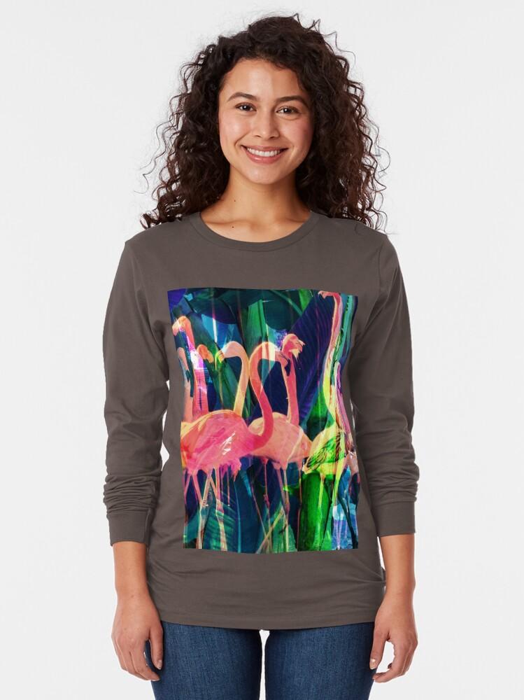 Alternate view of Flamingo Dance Long Sleeve T-Shirt