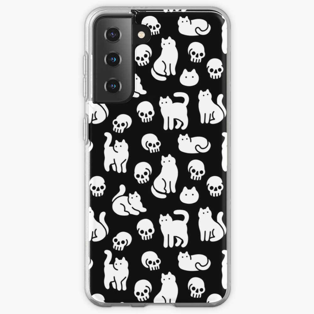 Cats and Skulls Pattern Case & Skin for Samsung Galaxy