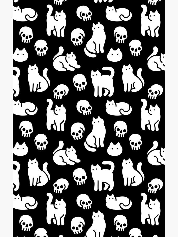 Cats and Skulls Pattern by obinsun