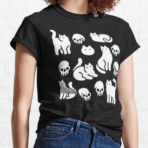 Muster für Katzen und Schädel Classic T-Shirt