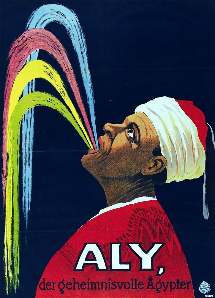 Vintage Vaudeville Aly, the Mysterious Egyptian by pdgraphics