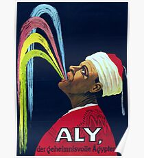 Vintage Vaudeville Aly, the Mysterious Egyptian Poster