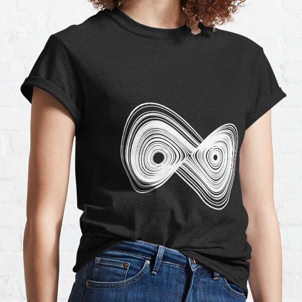 Chaotic strange attractor design - white Classic T-Shirt
