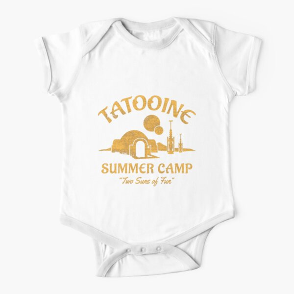 Tatooine Summer Camp Short Sleeve Baby One-Piece