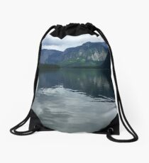 Picturesque Lake in Hallstatt, Austria (2) Drawstring Bag
