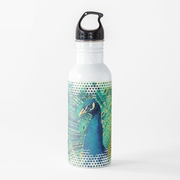 Peacock Art Water Bottle