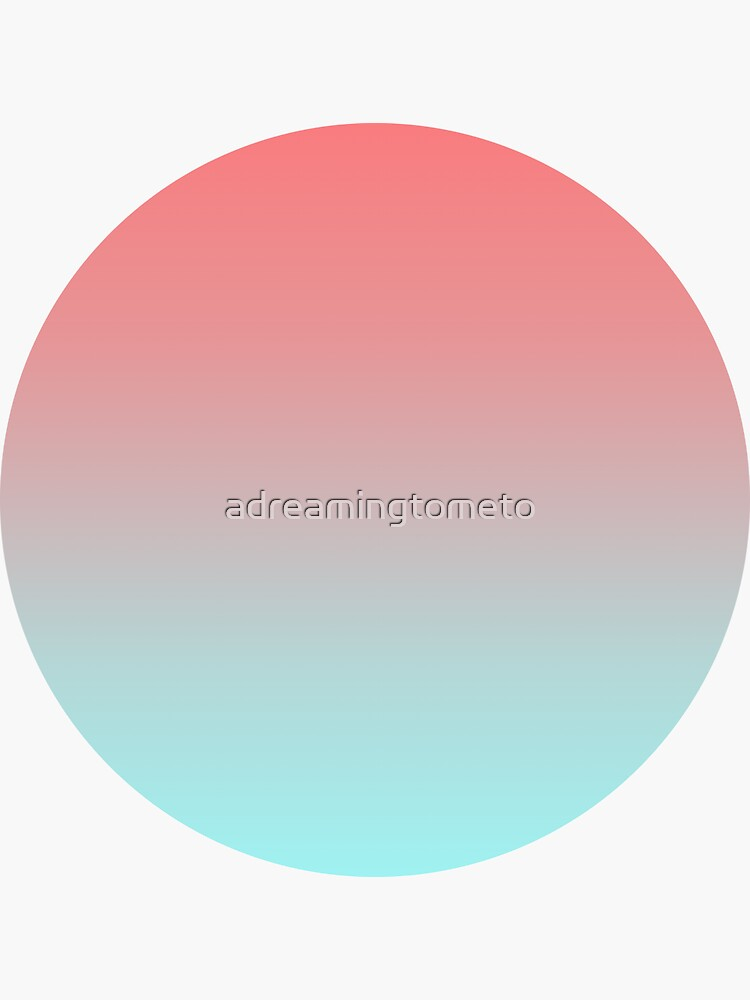 Light Coral and Celeste Color Gradient by adreamingtometo