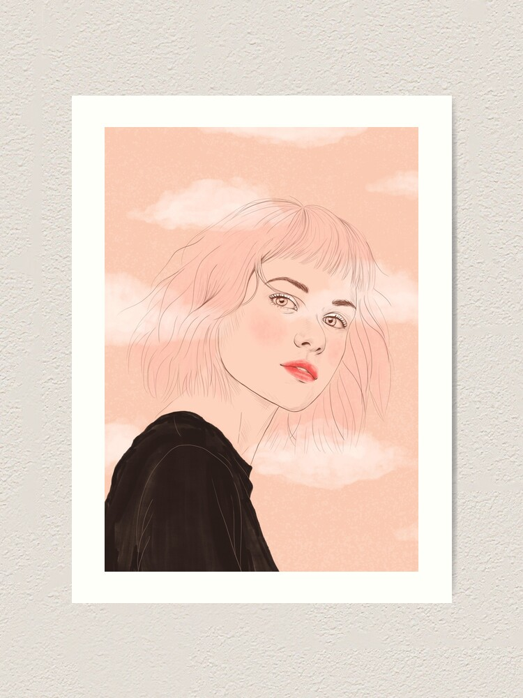 Alternate view of Head in the clouds Art Print
