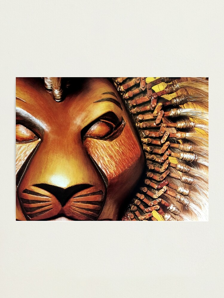 Simba The Lion King Broadway Poster Closeup Photographic Print By Blaineycats Redbubble