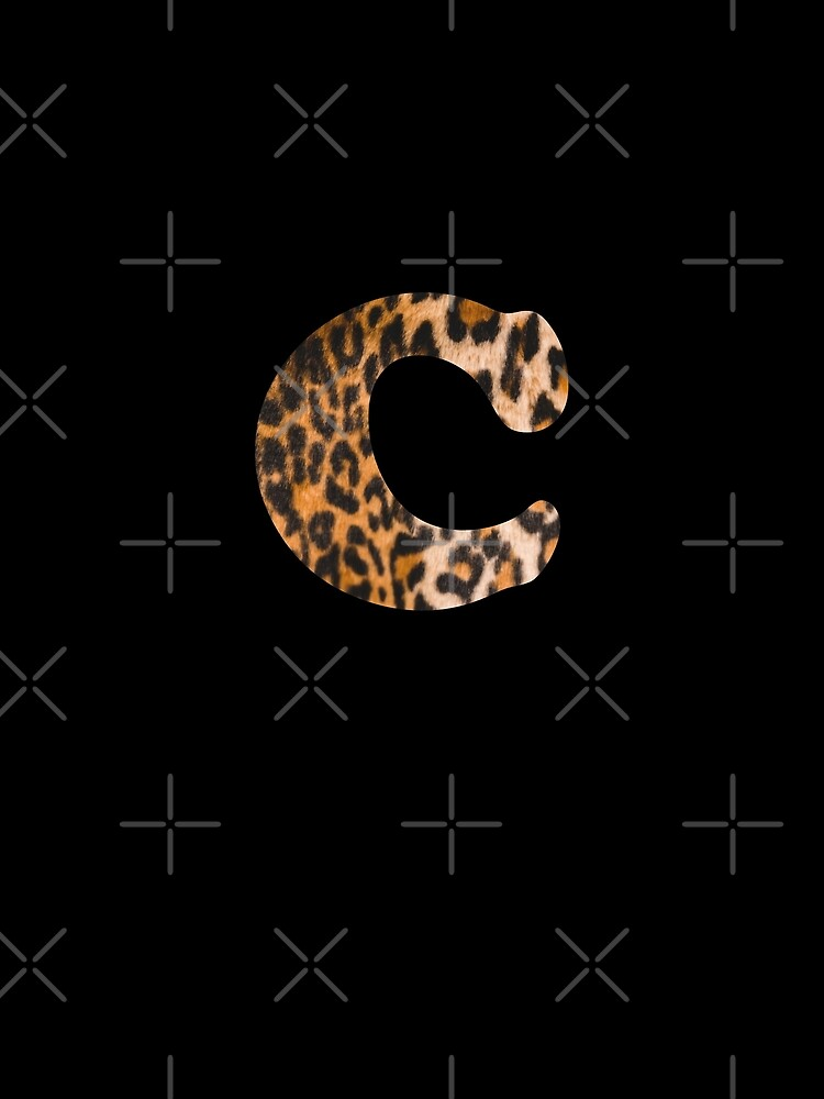 Letter C leopard print by ColorsHappiness