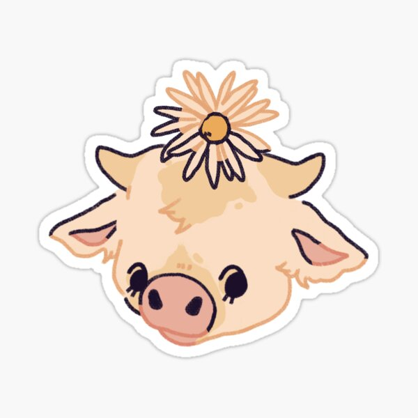 Oxeye Daisy Moobloom Minecraft Flower Cow Sticker