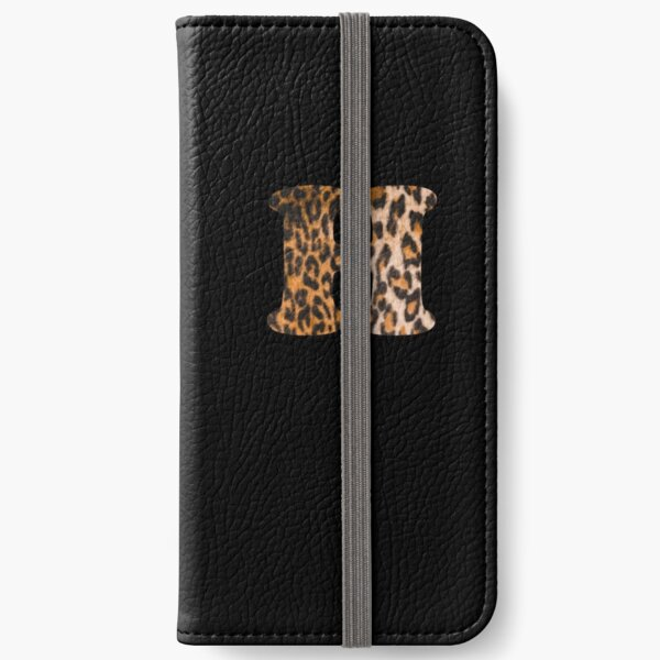 Letter H leopard print iPhone Wallet