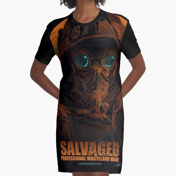 SALVAGED Ware design by guest artist Alessio Vanzan. Graphic T-Shirt Dress