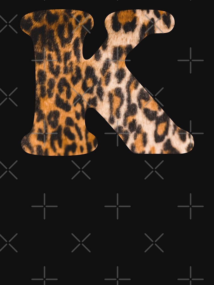 Letter K leopard print by ColorsHappiness