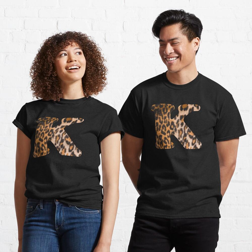 Letter K leopard print Classic T-Shirt