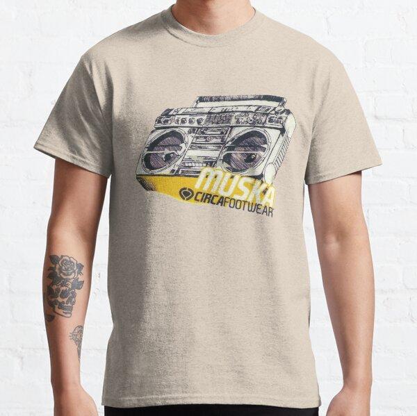 Chad Muska Stereo, Circa Footwear T-Shirt Design. Classic T-Shirt