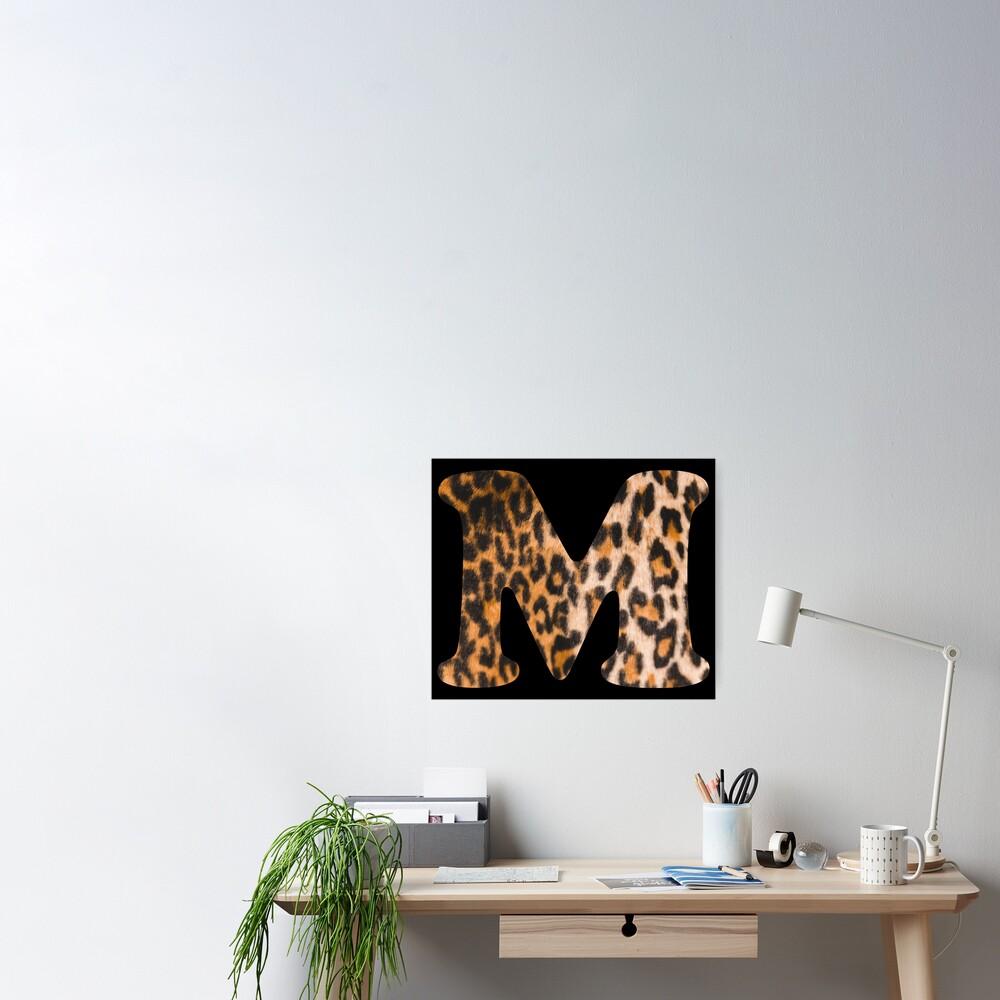 Letter M leopard print Poster