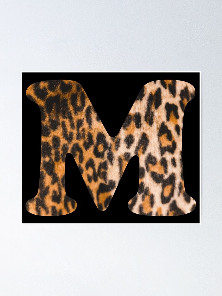 Alternate view of Letter M leopard print Poster