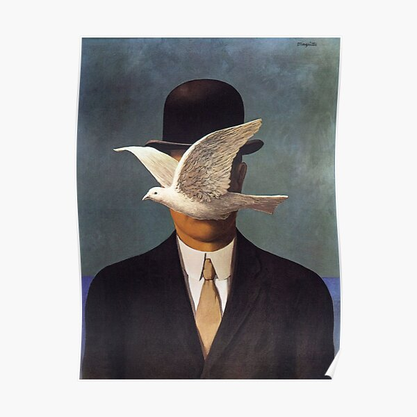 Man in a Bowler Hat by Rene Magritte  Poster
