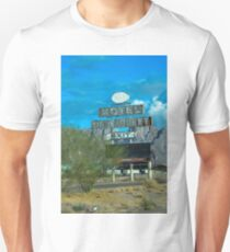 Motel Restaurant Exit Old Beat up Sign T-Shirt