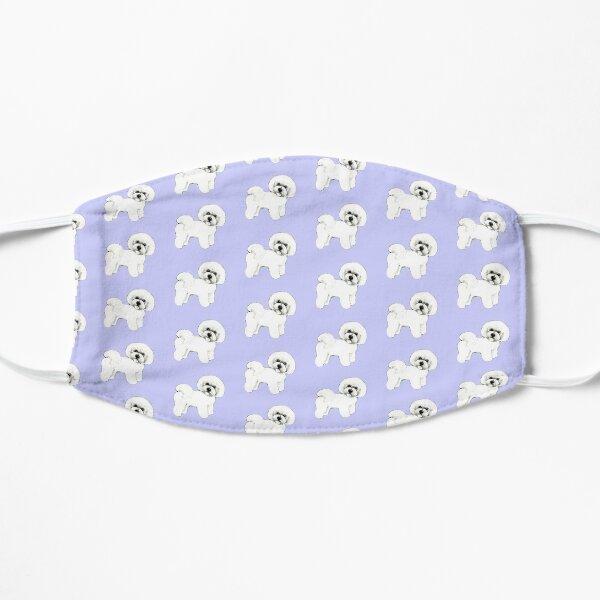 Bichon Frise dog on lilac Mask