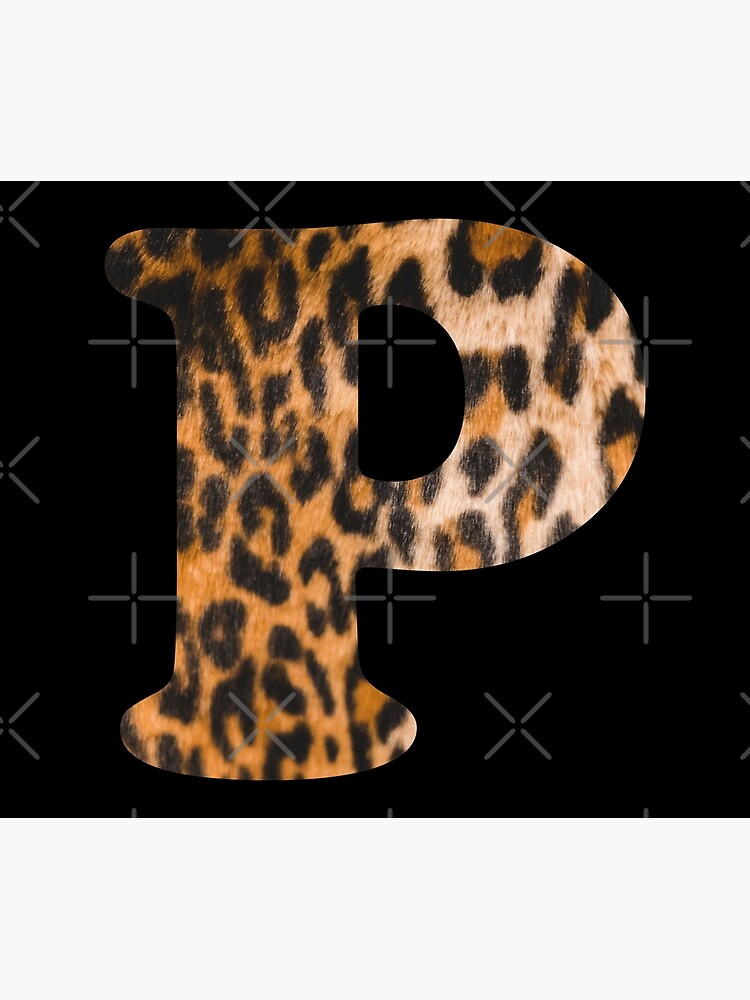 Letter P leopard print by ColorsHappiness