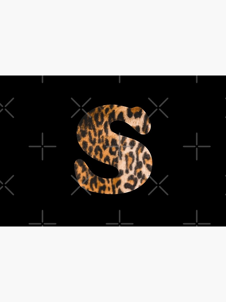 Letter S leopard print by ColorsHappiness