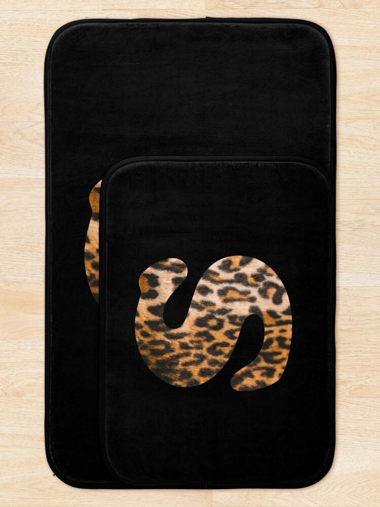 Alternate view of Letter S leopard print Bath Mat