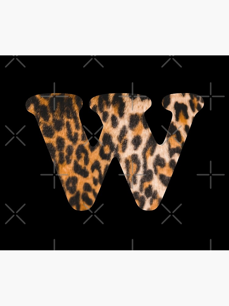 Letter W leopard print by ColorsHappiness