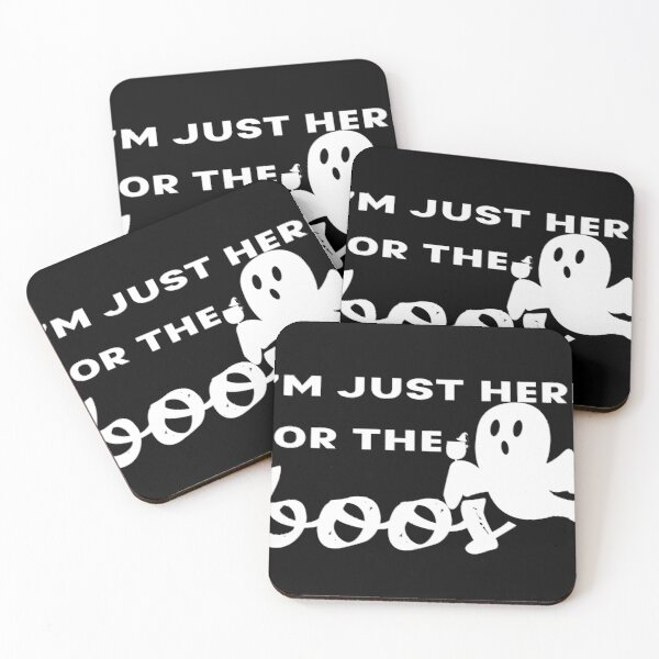 I Am Just Here for the Boos Halloween Coasters (Set of 4)