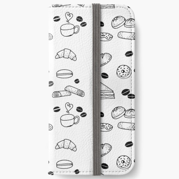 Sweet Tooth Pastry Shop Doodle iPhone Wallet
