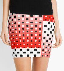 Red, Black, & White Halftone Mini Skirt