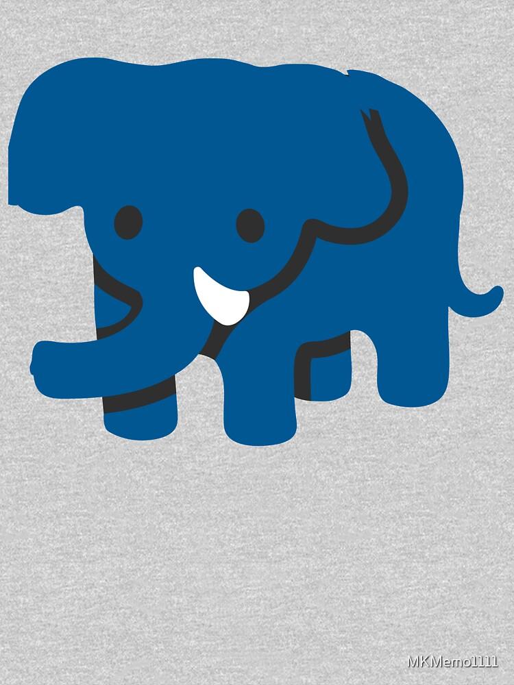 Blue Elephant Cute animal Emoji Costume Gift by MKMemo1111