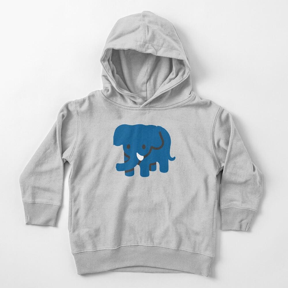 Blue Elephant Cute animal Emoji Costume Gift Toddler Pullover Hoodie