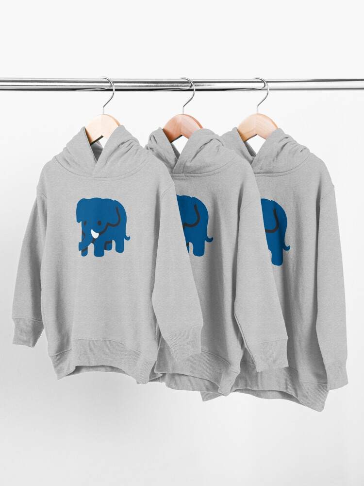 Alternate view of  Blue Elephant Cute animal Emoji Costume Gift Toddler Pullover Hoodie