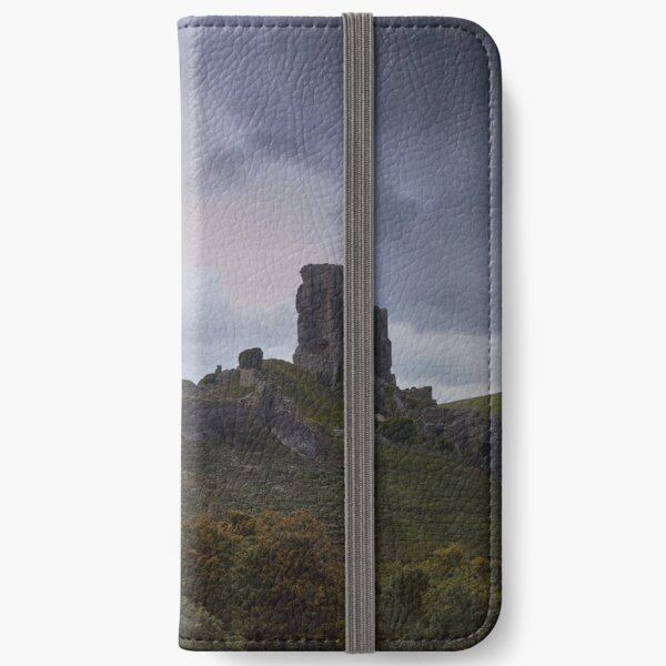 Corfe Castle with Back to Storm Alex iPhone Wallet