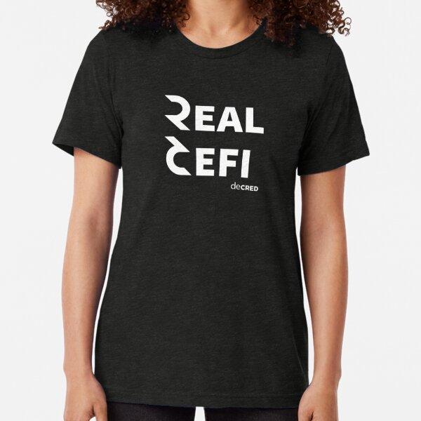 Decred Real Defi ™ v1 'Design timestamped by https://timestamp.decred.org/' Tri-blend T-Shirt