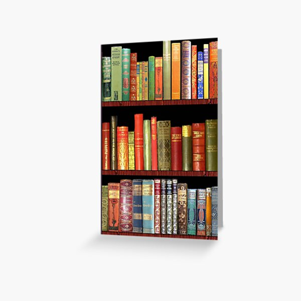 Bookworm Antique books Greeting Card