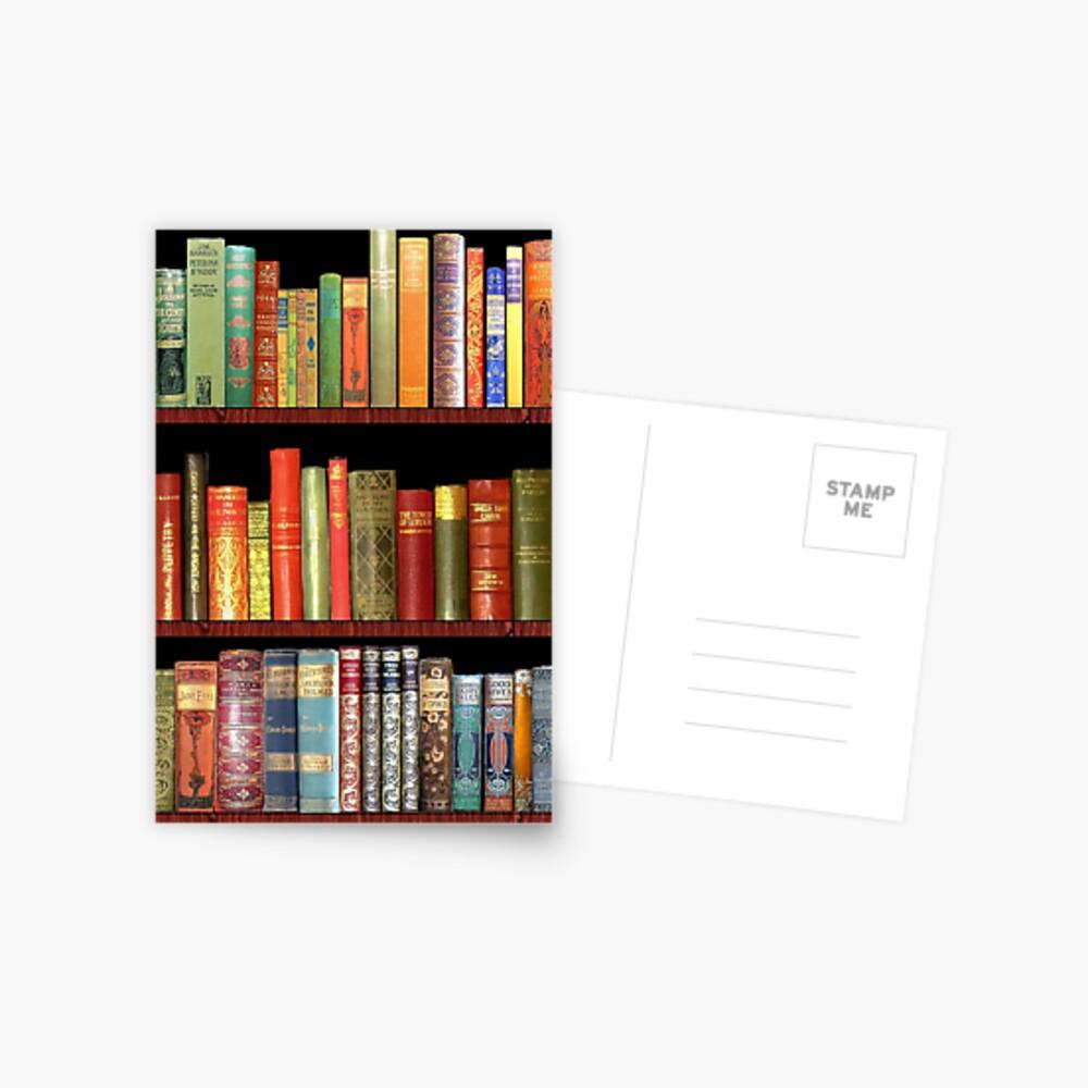 Bookworm Libros antiguos Postal
