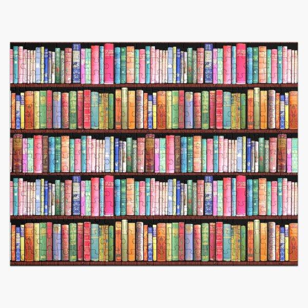 Bookworm Antique book library, vintage book shelf Jigsaw Puzzle